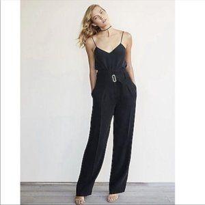Express Wide Leg Belted Black Dress Pant NWT 0R